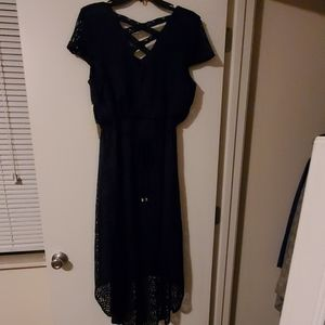 New Tactra XL Navy Blue lace dress